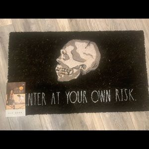 Rae Dunn - Enter at your own RISK - Outdoor Mat - NWT 🇺🇸